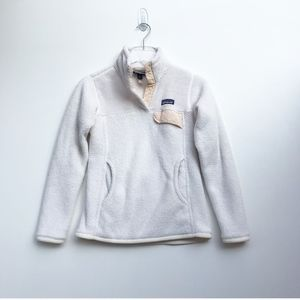 Patagonia Re-Tool Snap-T® Fleece Pullover White